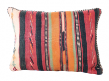 Moroccan Kilim Cushion Vintage Authentic Wool Hand Embroidered Hand Stitched 50 cm x 40 cm VC114